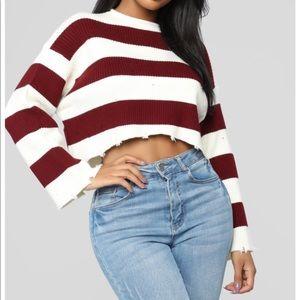 Fashion nova striped sweater